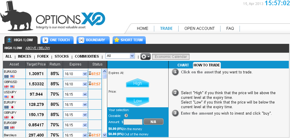binary options xls medical terminology