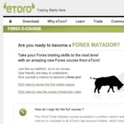 Etoro forex trading course