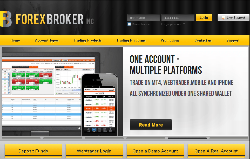 B forex broker inc