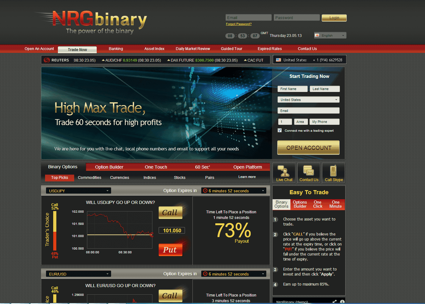 nrg binary options reviews