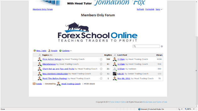 Main page of the Forex forum