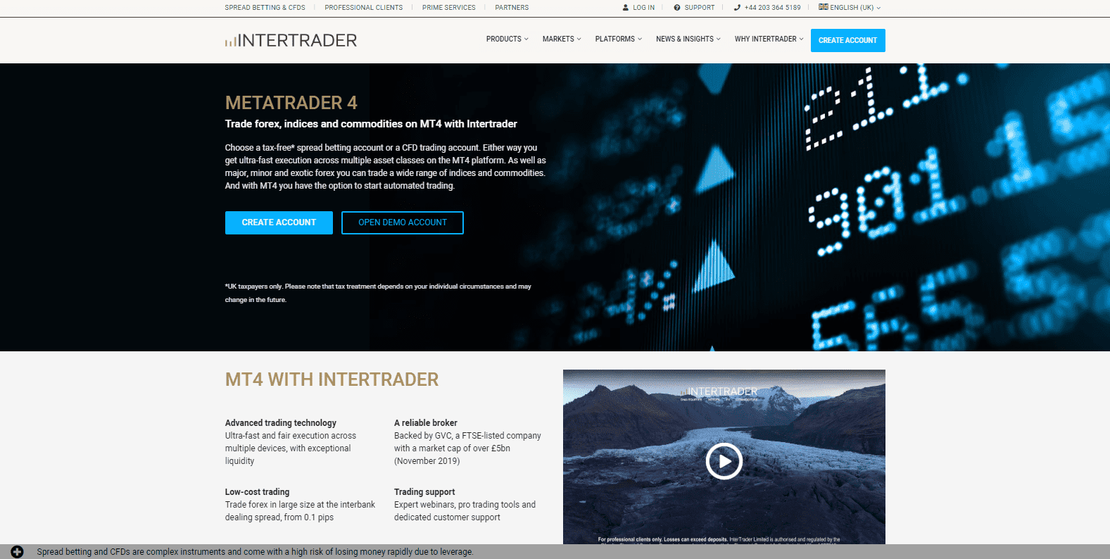 intertrader cfd trading account handelsansicht crypto currencey signal finder