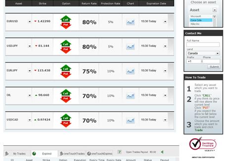 iOption Trading Platform
