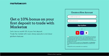 MarketsX Bonus