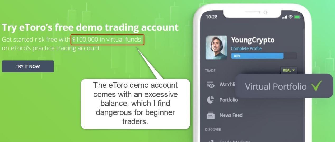 eToro Demo Account