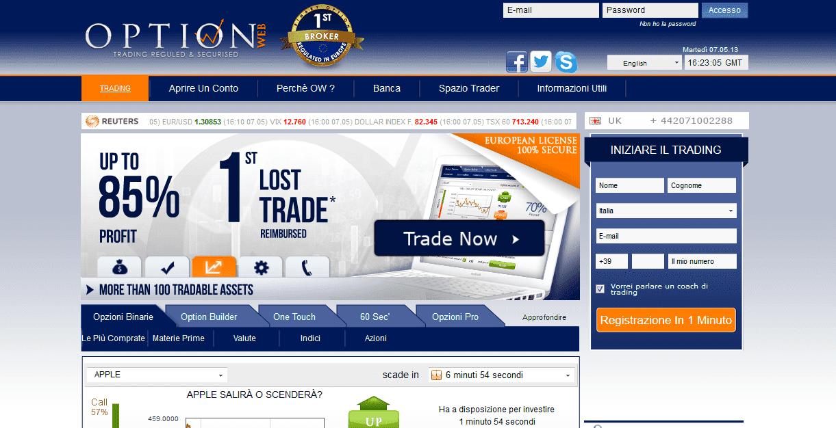 OptionWeb - Homepage